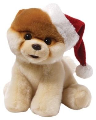 Gund Boo with Santa Hat