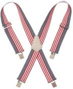 Custom Leathercraft 5.1cm . Wide Red, White & Blue Work Suspenders 110USA