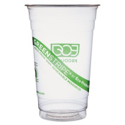 GreenStripe Renewable Resource Cold Drink Cups, 20 oz, Clear, 1000/Carton