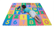 Huge Soft Alphabet & Number Puzzle Play Mat Jigsaw 36pcs with Storage Bag
