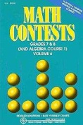 Math Contests - Grades 7 and 8 (and Algebra Course 1)