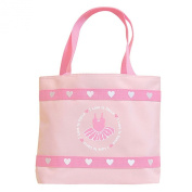 Danshuz Womens Girls Pink I Love To Dance Embroidered Hearts Tote