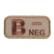 Mil-Spec Monkey Patch - Bloodtypes B-NEG Desert