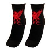 Black Liverpool Fc Club Logo Socks Fits 4 - 6.5