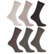Mens 100% Cotton Plain Work/Casual Socks