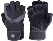 Harbinger Training Grip Wrist Wrap Weight Lifting Gloves Black Medium
