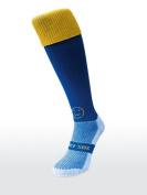 WackySox Blue Sock with Amber Top Sports Socks