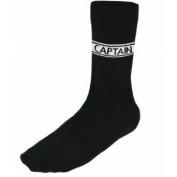 Socks -Black with Captain writing