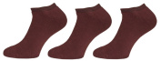 Womens Low Cut Socks 3 Pair Pack Brown Size 6-8 LCT6047.