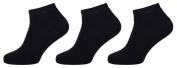 Womens Low Cut Socks 3 Pair Pack Black Size 9-12 LCT68980603.