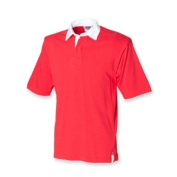 Front Row Mens Heavy Short Sleeve Cotton Casual rugby shirt S,M,L,XL,XXL