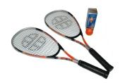 Unsquashable Junior Squash Racket Set - Orange/Black/Grey, 60cm