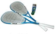 Unsquashable Adult Squash Racket Set - Blue/White/Black, 70cm