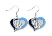 Tampa Bay Rays Swirl Heart Earrings