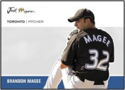 2007 Just Minors Just Autographs # JA28 Brandon Magee (TOR P) Baseball Card Mint Condition In