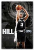 George Hill - San Antonio Spurs NBA Art Print Poster