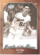 2009 10 Upper Deck Greats of the Game Basketball Card # 68 Jerry Sloan Purple Aces Mint Condition -