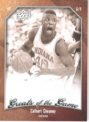 2009 10 Upper Deck Greats of the Game Basketball Card # 83 Calbert Cheaney Hoosiers Mint Condition -