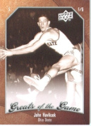 2009 10 Upper Deck Greats of the Game Basketball Card # 13 John Havlicek Buckeyes Mint Condition -