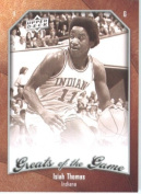 2009 10 Upper Deck Greats of the Game Basketball Card # 16 Isiah Thomas Hoosiers Mint Condition -
