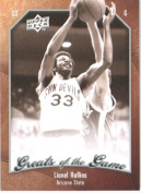2009 10 Upper Deck Greats of the Game Basketball Card # 24 Lionel Hollins Sun Devils Mint Condition -