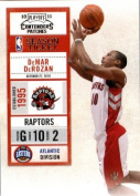 2010 11 Playoff Contenders Plates & Patches Basketball Card # 65 DeMar DeRozan Toronto Raptors In a