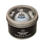 Newcastle United Ball and Tee Golf Gift Set - Black/White