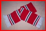 Manchester Man United Retro Style Black / Red / White Football Bar Scarf