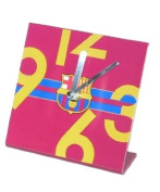 Official FC BARCELONA deep red table clock