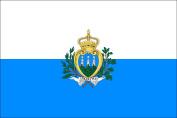 San Marino 5ftx3ft Large Flag With 2 Metal Eyelets