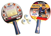 Butterfly 11028 Skills 2 Player Table Tennis Set - Blue/Red, 29 Cm