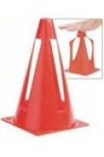 ND Sports Collapsible Sports Training Cones, Red, Set of 10
