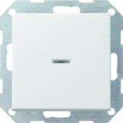 "Gira 31060cm Off"" Push-Button Switch 2-Pin Control System 55 Matte Pure White"