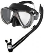 Phantom Aquatics Velocity Scuba Snorkelling Mask Dry Snorkel Set