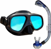 ANTI-GLARE Mask + OMEGA Dry Top Snorkel - SET by Mikes Diving