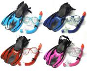 Mask, Snorkel & Fins / Flippers PVC Diving Set (Kids) - Scuba Dive Snorkelling Sets