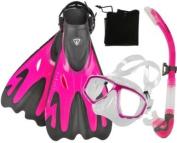 Scuba Max Snorkelling Mask Fins Semi Dry Snorkel Set
