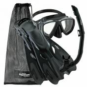 Phantom Aquatics Adult Mask Fin Snorkel Set, with Snorkelling Gear Bag