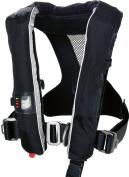 Baltic Race SL 150N Automatic Lifejacket with Harness - Black, 50-110 Kg