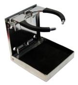 Amarine-made Stainless Steel Adjustable Folding Drink Holders Marine/boat/caravan/car