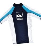 Quiksilver Men's F198MS Raglan Mid Neck Lycra Shirt - Black