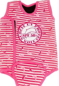 Surfit Girl's Dolphin Striped Baby Wrap Wetsuit