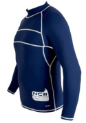 NCW Cornwall Long Sleeve Rash Vest With SPF Protection Too ( SPF 50 ), Blue