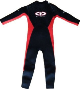 Size 9 (14-15Yrs) Childrens Full Length Wetsuit by CiC. RED, 2mm Neoprene. Ideal for UV protection, Swimming, Surfing, Beach wear