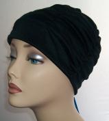 Ladies Swimming Hat Bathing Cap by Fashy Turban Style Black