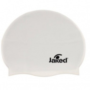 Jaked Silicone Swim Cap White