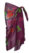Violet Sarong with Butterfly Design