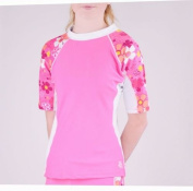 Girls Tuga Short Sleeve UV Swim Shirt Seaside Coral and Orchid 2-14 Years UPF50+ £22.95