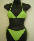String tie bikini green