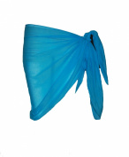 Plain Half Turquoise Cotton Sarong